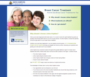 Breast Cancer Landing Page